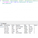 Row Number Function in SQL Server