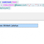 Creating Comma Seperated Values from Table in SQL Server