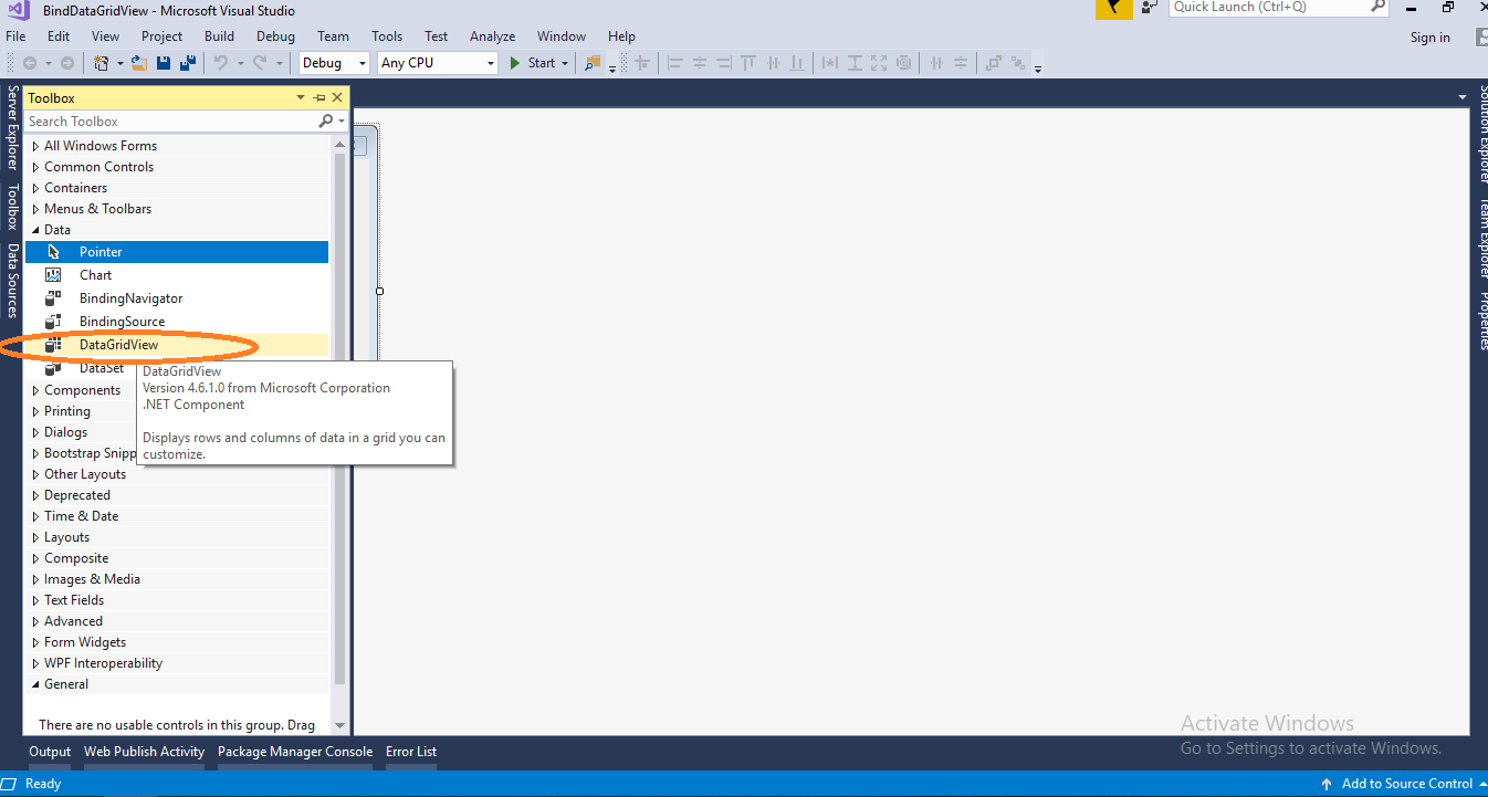 Bind DataGridView using DataTable