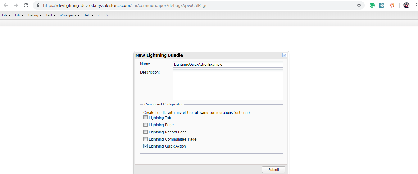 Quick Action in Lightning Experience Salesforce