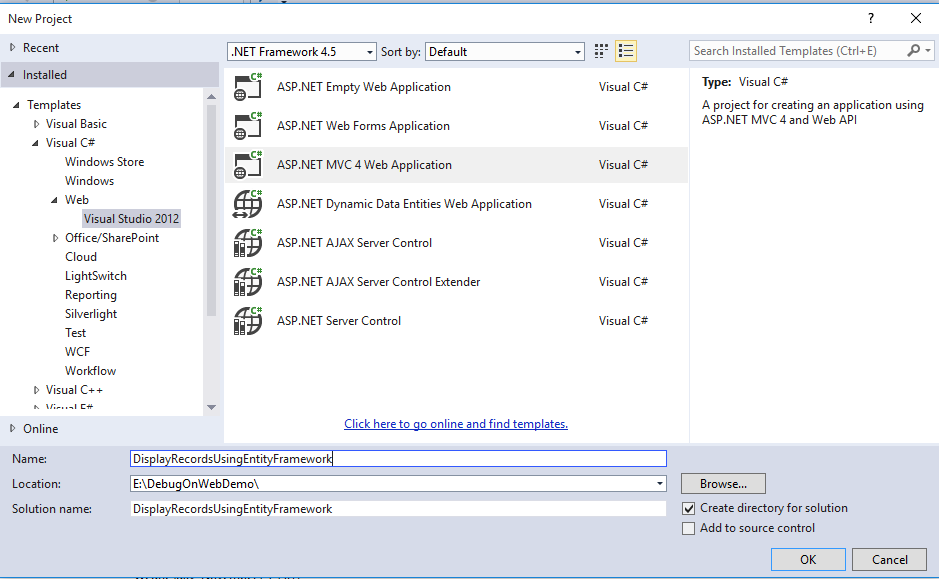 Display Records using Entity Framework