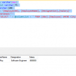 Dynamic Query in SQL Server