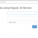 Post Data using Angular Js Services in ASP.NET MVC