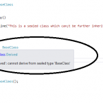 Sealed class in C#